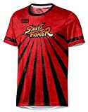 Street Fighter - Esports Soleil - T-Shirt Officiel Homme Rouge - Rouge, XL