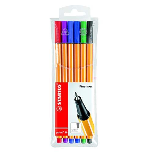 STABILO point 88 Fineliner colori assortiti - Astuccio da 6
