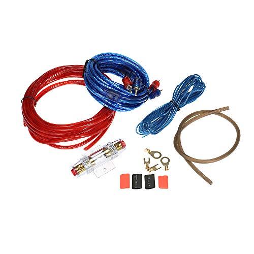 Festnight 1500 Watt Auto Audio Subwoofer Verstärker Installation Kit AMP RCA Verdrahtung Kit Kabel Sicherungshalter Draht Kabel