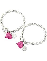 Bestfriends Bracelet, Pink Heart Friendship Bracelet - with 2 Gift Bags