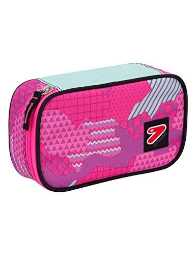 Portapenne big scuola seven the double - camouflage - rosa - viola - porta penne