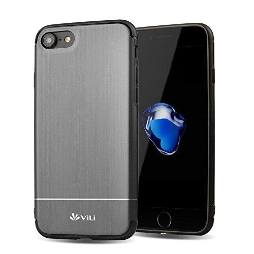 iPhone 7 Plus Hülle, Feitenn Ultra Slim Case Crystal Clear Transparent Cover Soft Schale Flexibles Smartphone-Case Premium TPU Silikon Schutzhülle Durchsichtige Handyhülle Für iPhone 7 Plus - Rosa Grau