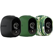 Netgear Arlo VMA1200-10000S - Kit de 3 fundas de silicona para camaras Arlo, colores negro, verde y camouflaje