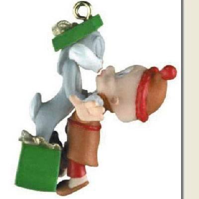 bugs-bunny-and-elmer-fudd-2000-miniature-hallmark-ornament-qxm5934-by-hallmark
