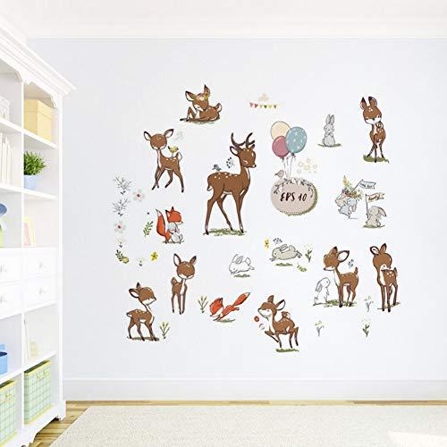 Yzybz Abnehmbare Schale Und Stick Ungiftig Niedlichen Sikawild Kaninchen Kinder Wandtattoos Tapete Wandaufkleber Wand ()