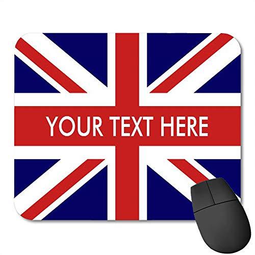 rutschfeste Gummi-Rechteck-Mausunterlagen,Britisch-englische Flagge f¨¹r Paare Union Jack Pride International -