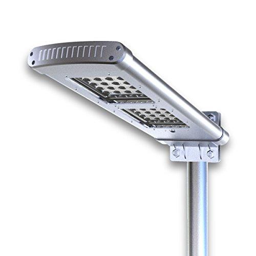 Brightsparksolar BS4127 120 W 500 lm 80,8 x 22,7 x 16,4 cm alleinstehende Solarlampe für Gehwege aus Aluminium, grau