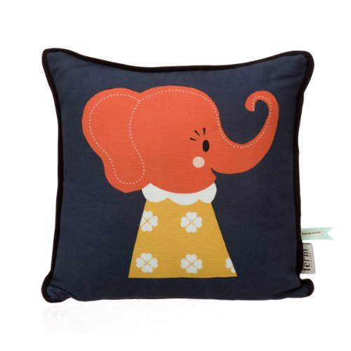 Ferm Living Kinderkissen Kissen für Kinder 30 x 30 cm Elefant Elle Elephant Cushion