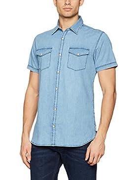 JACK & JONES Jorone Shirt Ss Noos, Camicia di Jeans Uomo
