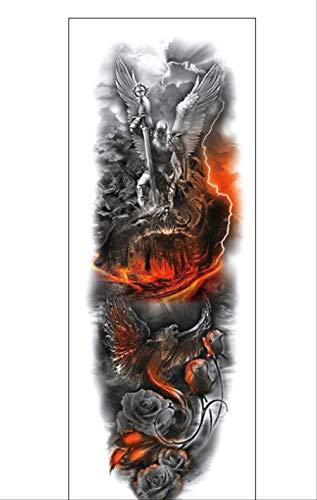 Lnnhjb adesivo tatuaggio tatuaggio braccio impermeabile fiore bianco e nero
