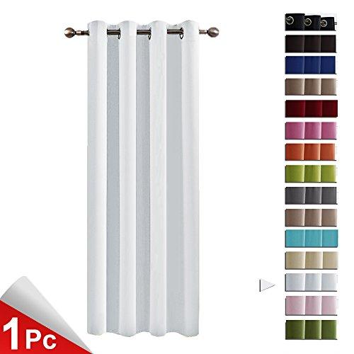 PONYDANCE Blickdicht Vorhang mit Ösen 158 x 132 cm (H x B), Grau-Weiß Thermo-Verdunklungsvorhänge, Vorhänge Ein Stück für Ehepaar Wohnzimmer