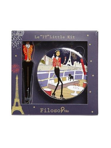 Filosofille Set Beauté Epilation 2 Pièces Little Kit Sofie Thème Réveillon sur la Seine