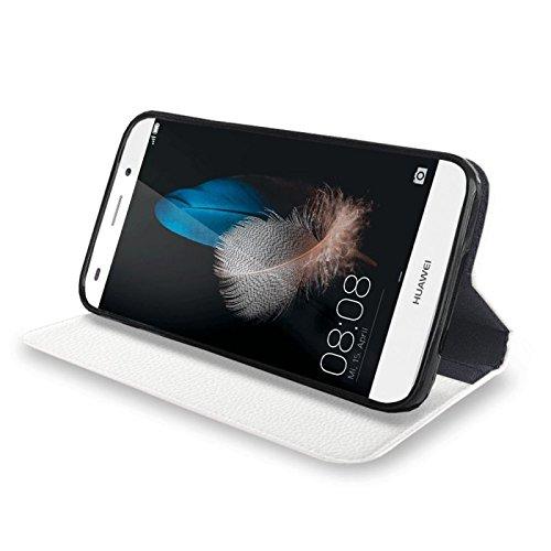 Für Apple iPhone --- 6s-Plus --- eSPee Hülle Schutzhülle Wallet Flip Case Cremeweiss mit Strass Ranke Blumenranke UNZERBRECHLICHER Silikon Schale / Bumper und Magnetverschluss Weiß