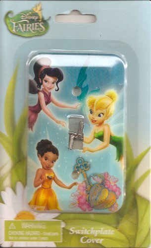 Game/Play Disney Fairies Tinker Bell Switchplate Cover - Kids Bedroom Playroom Decor Light Switch Plate Kid/Child by Disney