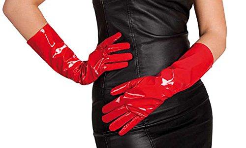 Boland 03021-Handschuhe aus Vinyl, Rot
