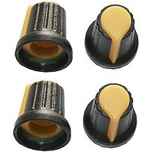 30 Stueck Kunststoff 6 mm im Durchmesser Steuertasten und Drehpotentiometer Schw