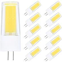 Paquete de 10 G4 LED Bombilla 4W LED COB Blanco Frío 6000K Bombillas Lámpara LED 360LM Ahorro de Energía Lámpara LED AC/DC12V