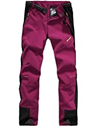Lakaka Womens Hiking Trousers Waterproof Fleece Lined Breathable Quick Dry Outdoor Climbing Pants