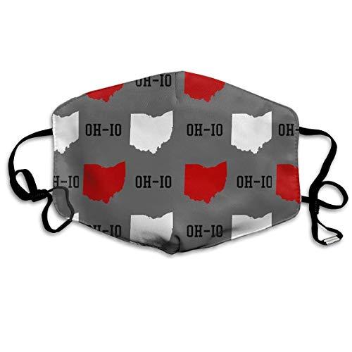 Masken, Masken für Erwachsene, Oh-Io State Reusable Anti Dust Face Mouth Cover Mask Protective Breath Healthy Safety (Damen Ohio State Hat)