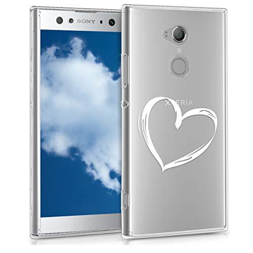 kwmobile Sony Xperia XA2 Ultra Hülle - Handyhülle für Sony Xperia XA2 Ultra - Handy Case in Weiß Transparent