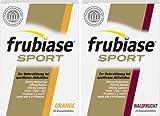 Frubiase Sport Orange Spar-Set 2x240g (40 Brausetabletten). Zur Unterstützung bei sportlichen Aktivitäten. Mit Magnesium, Kalium, Calcium, Eisen, Zink, Jod, Vitamin E, C, D3 und allen 8 B-Vitaminen. In Zusammenarbeit mit der deutschen Sporthochschule Köln entwickelt. Laktose-, gluten- und zuckerfrei.