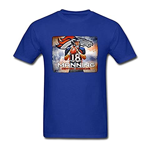 Men's 2016 Super Bowl 50 MVP Denver Broncos 18 Peyton Manning T Shirt
