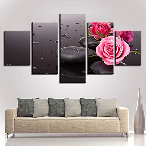 Abba Öl (Dekorative Malerei,Inkjet Kerze Stein Bambus Blumen Multi-verbundenen modernen Wandmalerei nach Hause Freizeitclub Malerei 14 Kern 30x40cmx2 30x60cmx2 30x80cmx1)