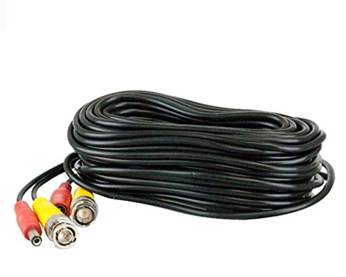 MBRO All-In-One BNC Video And Power Cable Wire Cord With Connector For CCTV Security Camera (60 Ft)  available at amazon for Rs.270