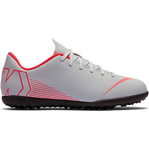 Nike Jr Vapor 12 Club GS Tf Scarpe da Calcetto Indoor Unisex-Bambini, Multicolore (Wolf Grey/Lt Crimson/Black 060) 35 EU