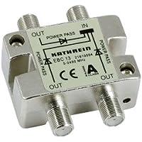 Kathrein EBC 13 3-fach-Verteiler (F-Anschluss, 5-2400 MHz, Rückweg- und UHF-tauglich, Fernspeisetauglich, Sat, TV, Kabel)