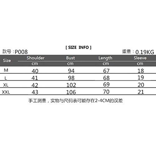 Honghu Herren Kurzarm Casual Polo T-Shirt Grau