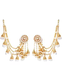 YouBella Stylish Party Wear Traditional Jewellery Gold Plated and Pearl Jhumkis Earrings for Women (Golden)(YBEAR_32070A)