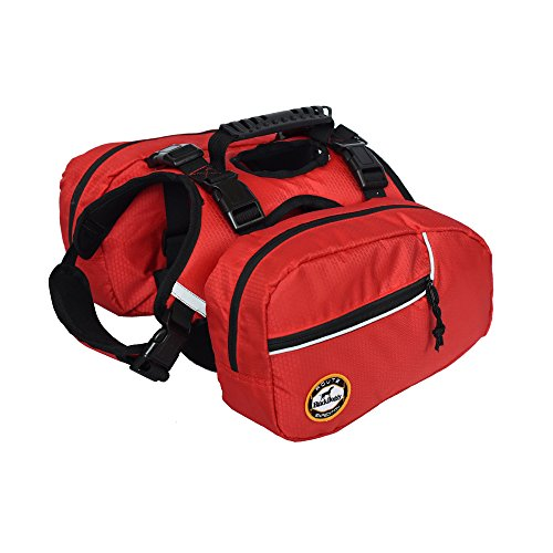 BlackDoggy Hund Satteltasche Pet-Rucksäcke Harness Quick Release Carrier Outdoor-Camping-Pack Orange Medium (Medium Pet Carrier)