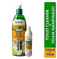 Herbal Strategi Toilet Cleaner 500ml, Foam Handwash 70ml (Pack of 2)