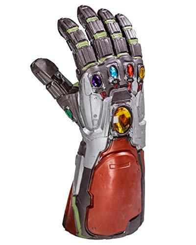 Iron Man Gauntlet Endgame Tony Stark Thanos Infinity Edelsteine Latex Handschuh mit Energy Stones Cosplay Kostüm Replica Erwachsene Herren Movie Verkleiden Merchandise Zubehör