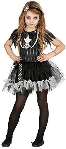 Fancy Me Mädchen Skelett Königin Braut Halloween Horror unheimlich Karneval Kostüm Kleid Outfit 3-12 Jahre - 3-4 - Unheimliche Kostüm Mädchen