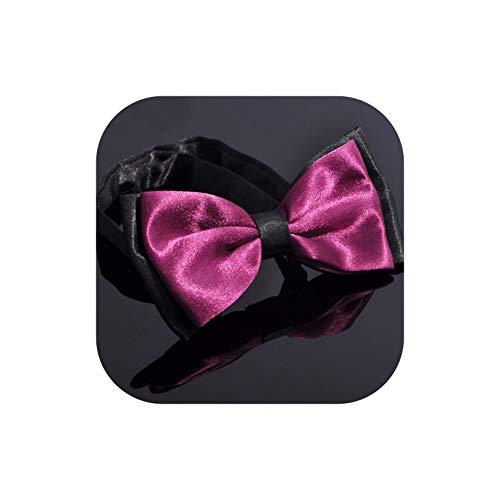 Fun-World Bowtie Männer formale Krawatte Junge Mode für Männer Geschäft Hochzeit Fliege männlich Hemd 2-Farben-Krawatte, Pflaumen-lila