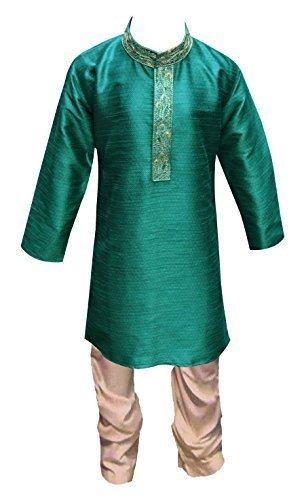 Indien Pakistan Jungen Sherwani Kurta Churidar Kameez für Bollywood thema & party Kostüm Hochzeit UK 871 - Türkis, EU 104