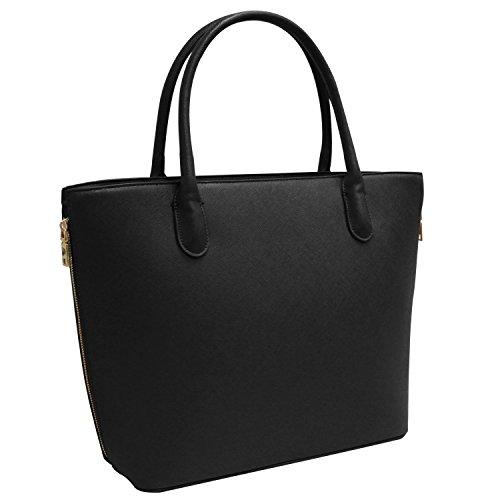 Vanessa & Melissa (Farbauswahl) Damen Handtasche PU-Leder TÜV geprüft groß Shopping Bag Shopper Arbeit A4 sale 2018 Tasche Freizeit/Schule/Büro
