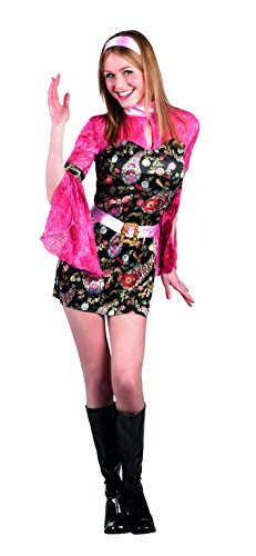 Boland Disco Party Chic Costume Donna per Adulti, Rosa/Nero, M (40/42), 83620