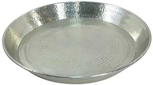 KERSTEN assiette façon edge ham moyen-orient en aluminium 58 x 7 cm (anthracite/argenté)