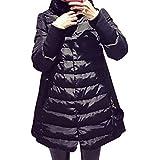 BOMOVO Estupendo abrigo tres cuartos de invierno de piel de cordero persa sintética para mujer en diversos estilos