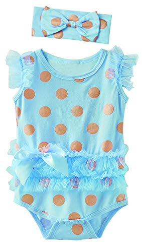 Mombebe bambine ragazze zucca halloween body vestiti (blu 1, 6-12 mesi)