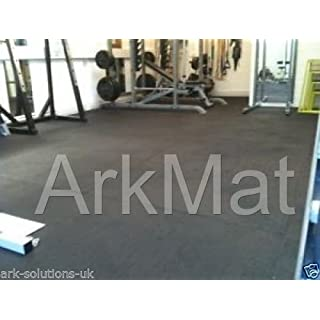 ARKMat Black Ameobic Rubber Gym Mat | 12mm Thick | 6ft x 4ft | 1.82 x 1.22m