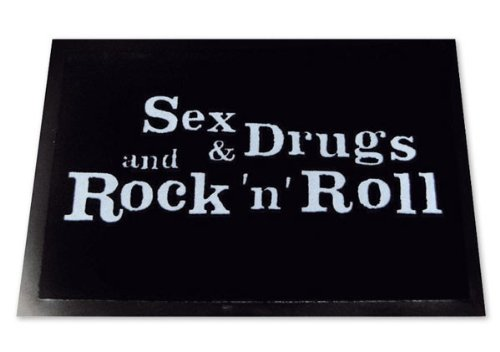 ZERBINO Sex & Drugs & Rock n Roll scarpe ZERBINO con sporco opaca