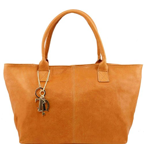 Tuscany Leather - TL KeyLuck - Sac à épaule en cuir - Cognac