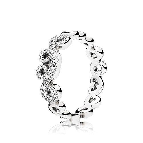 Pandora Damen-Ringe 925 Sterlingsilber zirkonia '- Ringgröße 58 (18.5) 197117CZ-58 (Verlobungsring Swirl)