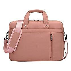 LOSORN ZPY 13-17 Zoll Laptop Tasche mit Schultergurt Aktentasche für Laptop/Notebook Computer/MacBook (17 Zoll, Rosa)