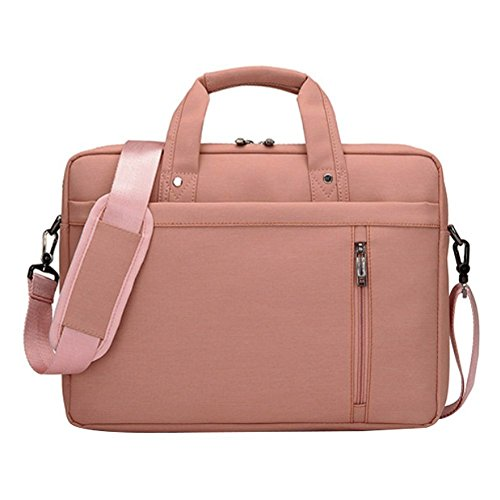 LOSORN ZPY 13-17 Zoll Laptop Tasche mit Schultergurt Aktentasche für Laptop/Notebook Computer/MacBook, Rosa, 17 Zoll Rosa Laptop Notebook