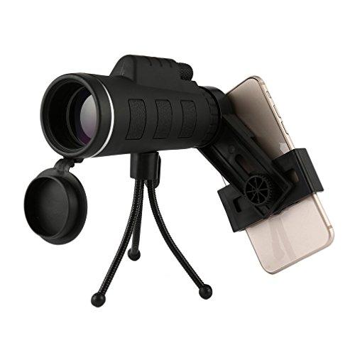 lulalula 40x 60Monokular Teleskope, High Power Dual Focus Wasserdicht Spektive, Low Night Vision mit Telefon mit Clip und Stativ–für die Vogelbeobachtung, Jagd, Camping, Wandern, Outdoor